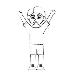 Happy smiling boy icon image vector