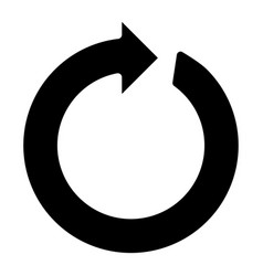 Circle arrow the black color icon vector