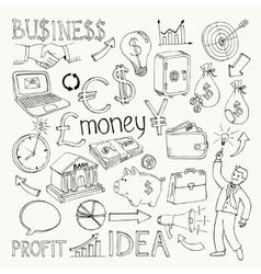 Business doodles hand doodle vector