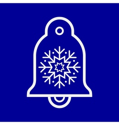 Bell ornament vector