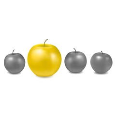 Concept with apples vector