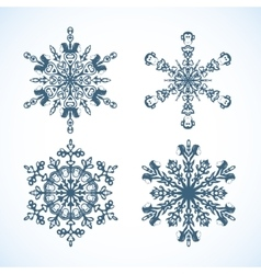 Snowflakes with monkey the symbol of 2016 vector