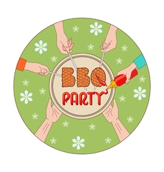 Bbq party vector