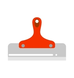 Putty knife worker equipment vector