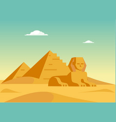 Pyramids And Sphynx vector image