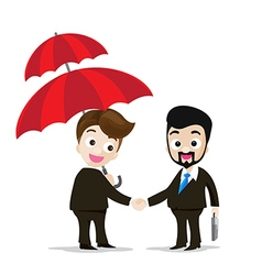 Business protection concept two of business man vector