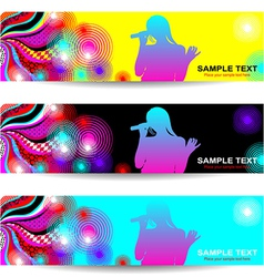 Advertising abstract music banner vector image
