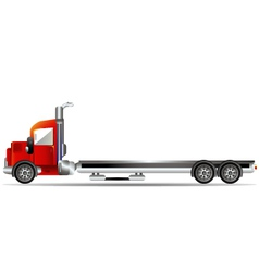 Red container car vector
