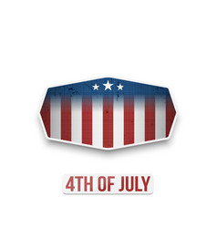American 4th of july national holiday banner vector
