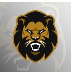 Angry lion symbol emblem sport logo vector