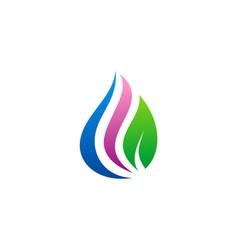 beauty droplet eco logo vector image
