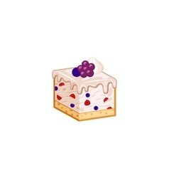 Berries mousse cake vector image