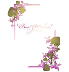 best wishes postcard vector image vector image