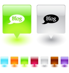 Blog square button vector image vector image