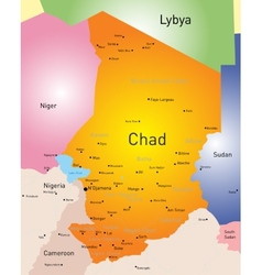 Chad map vector image vector image