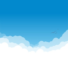 Clouds layers on blue copy vector