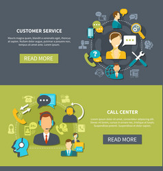 customer support service banners vector image