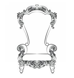 Fabulous rich baroque rococo armchair vector