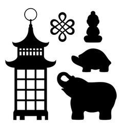 Feng shui souvenirs vector