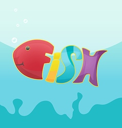 Fish Cartoon Logo Symbol Font vector image