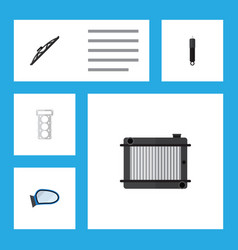 Flat component set of packing auto component vector