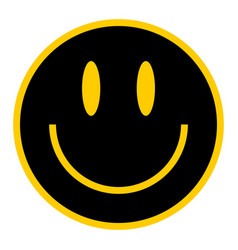 flat smiley happy smiling face vector image vector image