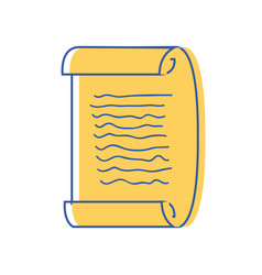 graduation certificate document to grade vector image