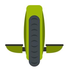 Green monowheel balance vehicle icon isolated vector