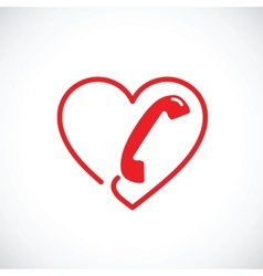 Helpline or phone sex abstract symbol icon vector image