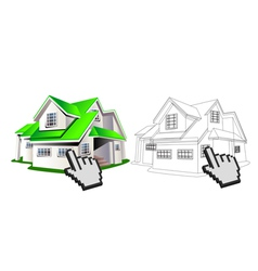House and wireframe vector