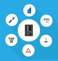 icon flat service set of ratchet warning vector image vector image