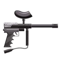 Loaded gun for paintball icon cartoon style vector