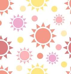 Multicolor suns seamless pattern vector image vector image