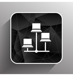 Network - icon networking wired lan web vector image vector image