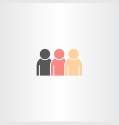 people icon design element vector image vector image