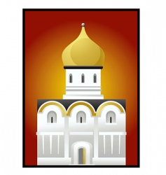 russian church vector image vector image
