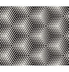 Seamless black and white halftone geometric vector