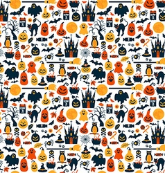 Seamless pattern of halloween vector