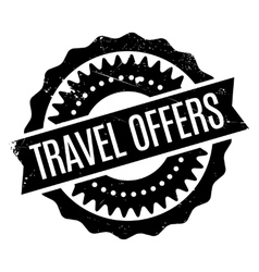 Travel offers rubber stamp vector