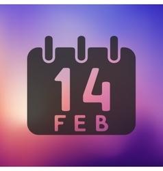 Valentine icon on blurred background vector