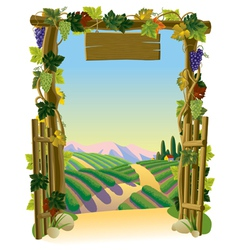 Vineyard gate vector