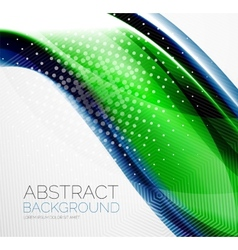 Wave abstract layout design vector image