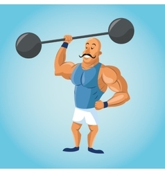 Strength man cartoon of circus vector