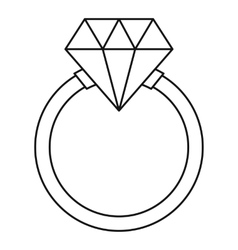 Ring LGBT icon outline style vector image