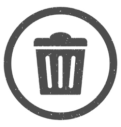 Trash Can Icon Rubber Stamp vector image