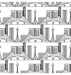 Urban city seamless pattern vector