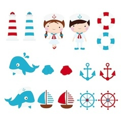 Nautical clip art copy vector