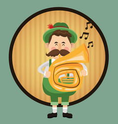 Man cartoon oktoberfest design vector