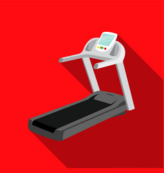 Treadmill icon flate single sport icon from the vector