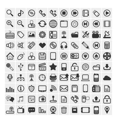 25 icons vector image